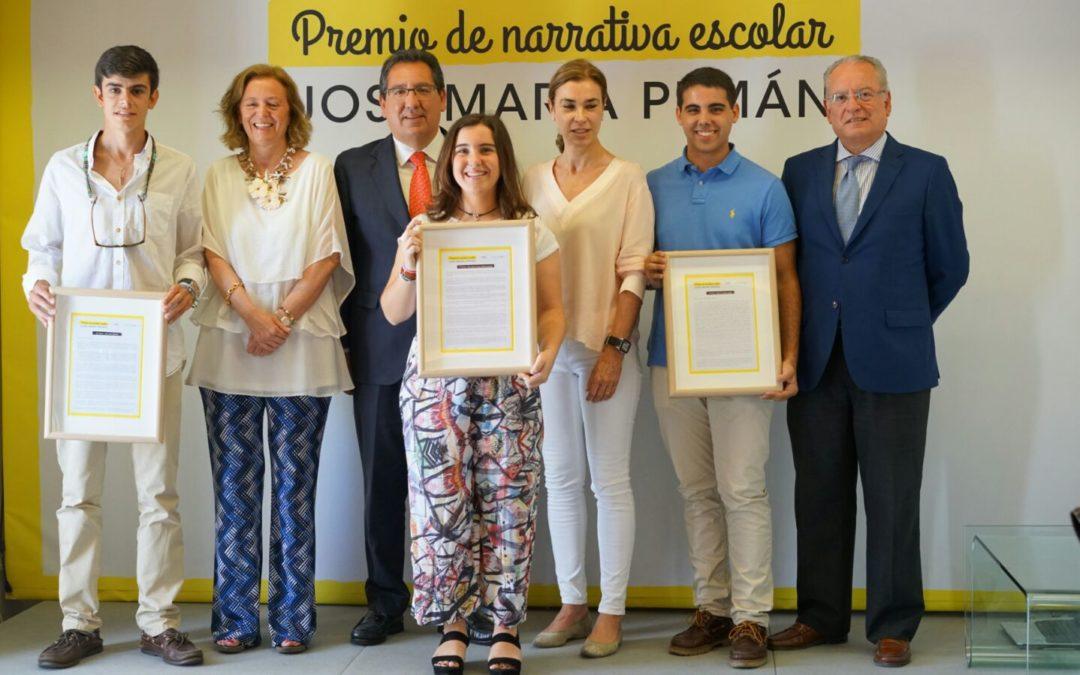 Entrega del I Premio de narrativa escolar José María Pemán en la Fundación Cajasol