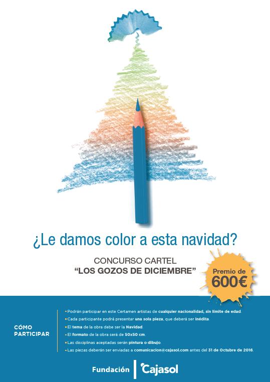 Cartel del concurso artístico 'Gozos de Diciembre 2016' de la Fundación Cajasol