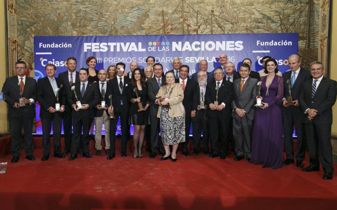Entrega de los XIII Premios Solidarios Sevilla 2016 del Festival de las Naciones