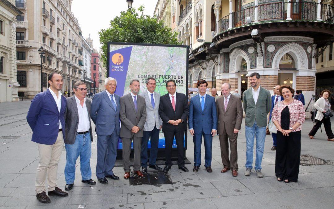 Exposición 'Como el Puerto de Sevilla, ninguno', en la Avenida de la Constitución