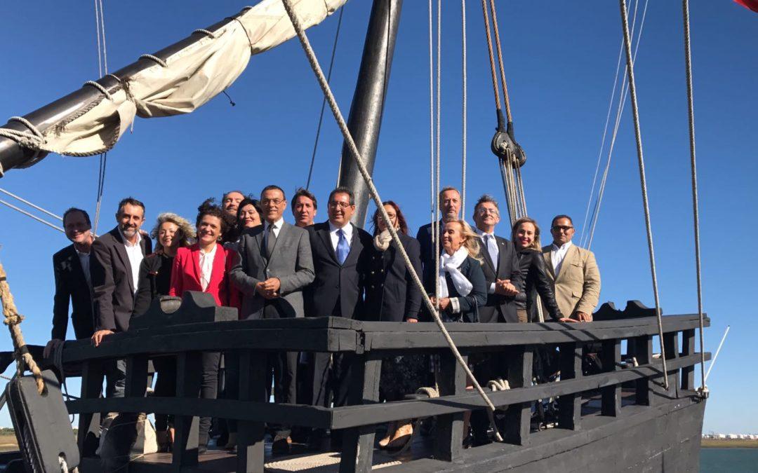 La Fundación Cajasol y Diputación de Huelva secundan la construcción de una réplica de la Nao Santa María