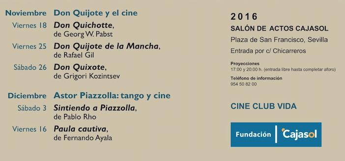 Don Quijote, protagonista del ciclo de cine de la Fundación Cajasol en el mes de noviembre