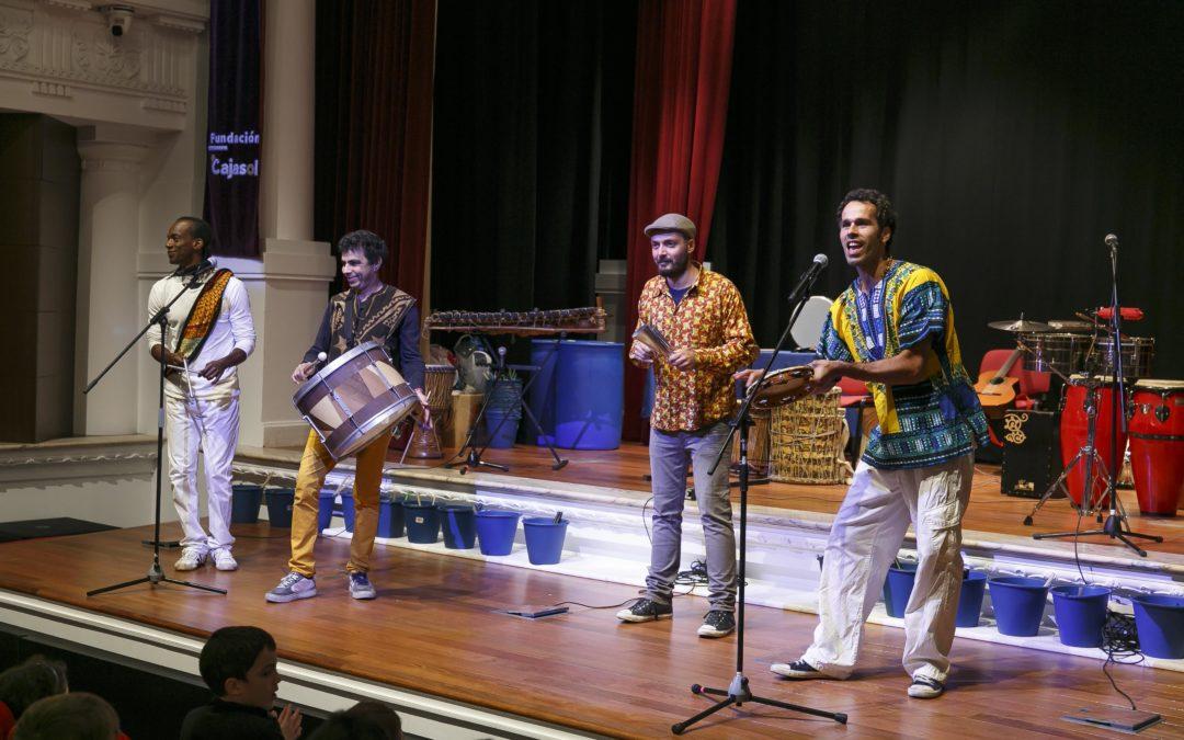 Concierto didáctico 'El mundo de la percusión' en la Fundación Cajasol
