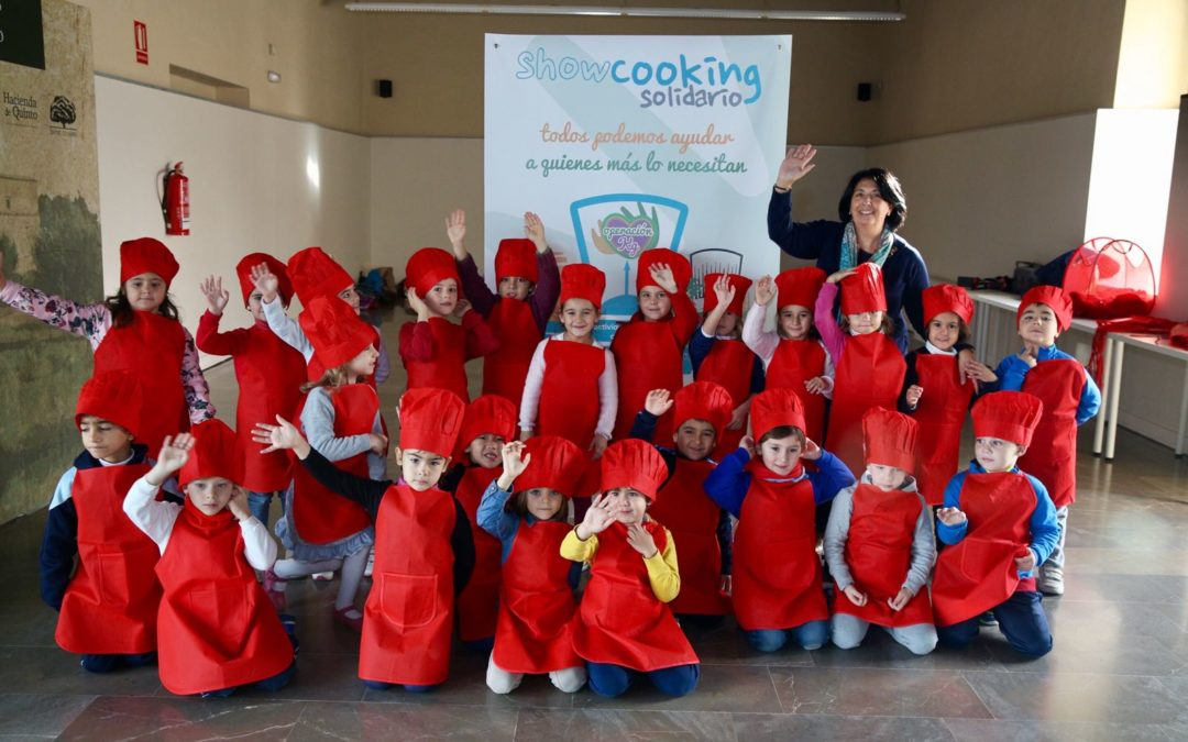 El 'Showcooking Solidario', una forma inmejorable para que los escolares se inicien en el mundo de la cocina de forma divertida