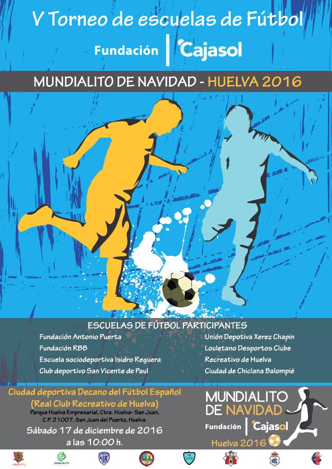 Cartel del V Mundialito de Navidad de la Fundación Cajasol