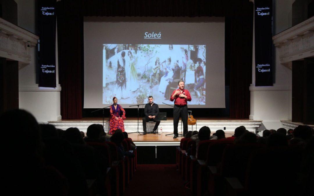 Difundimos el flamenco entre el público escolar con el programa de conciertos didácticos de la Fundación Cajasol