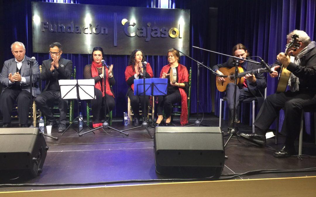 Zambomba flamenca de La Cavaera en la sede de la Fundación Cajasol en Huelva