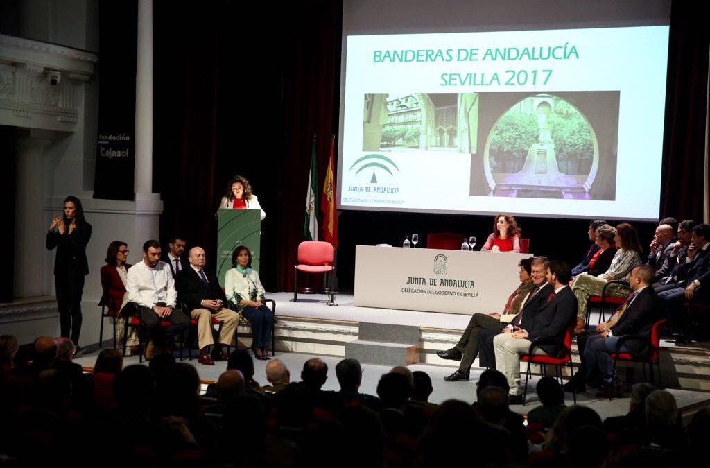 Entrega de las Banderas de Andalucía de Sevilla 2017 en la Fundación Cajasol