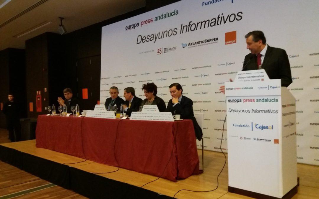 Desayuno Informativo de Europa Press Andalucía con José Entrena desde Granada