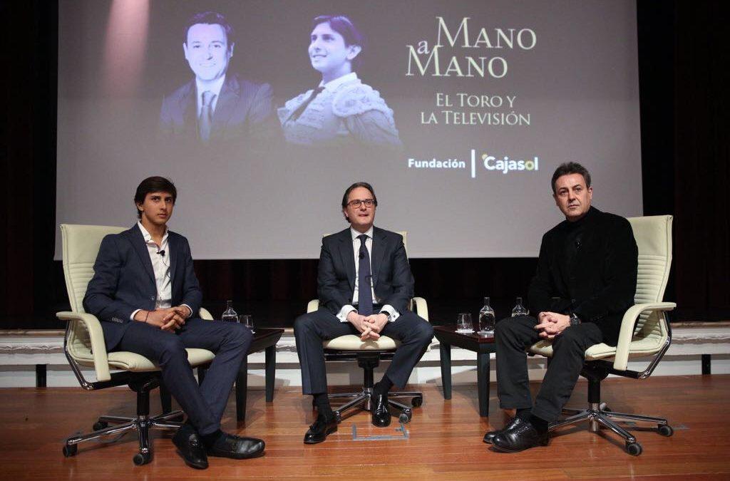 El toro y la televisión, unidos por Roca Rey y José Ribagorda