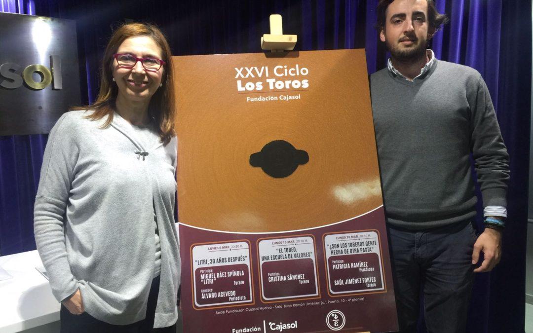 'Litri', Cristina Sánchez y Jiménez Fortes, en el XXVI Ciclo Los Toros de la Fundación Cajasol en Huelva