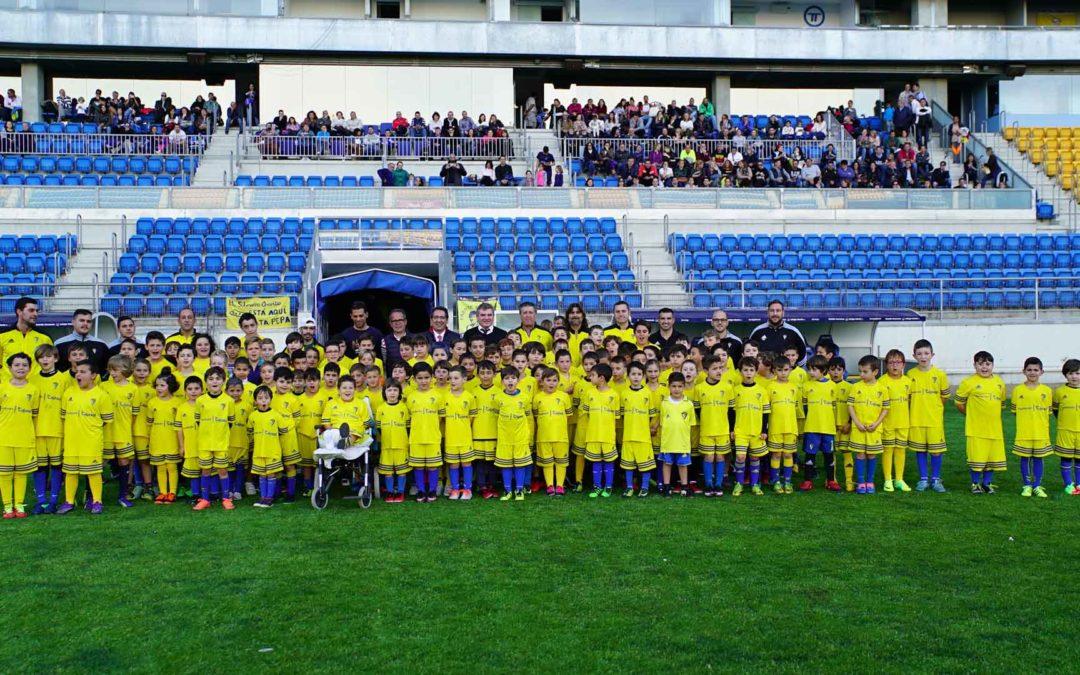 La Fundación Cajasol mantiene su compromiso y apuesta por el deporte base en el Campus Permanente del Cádiz CF