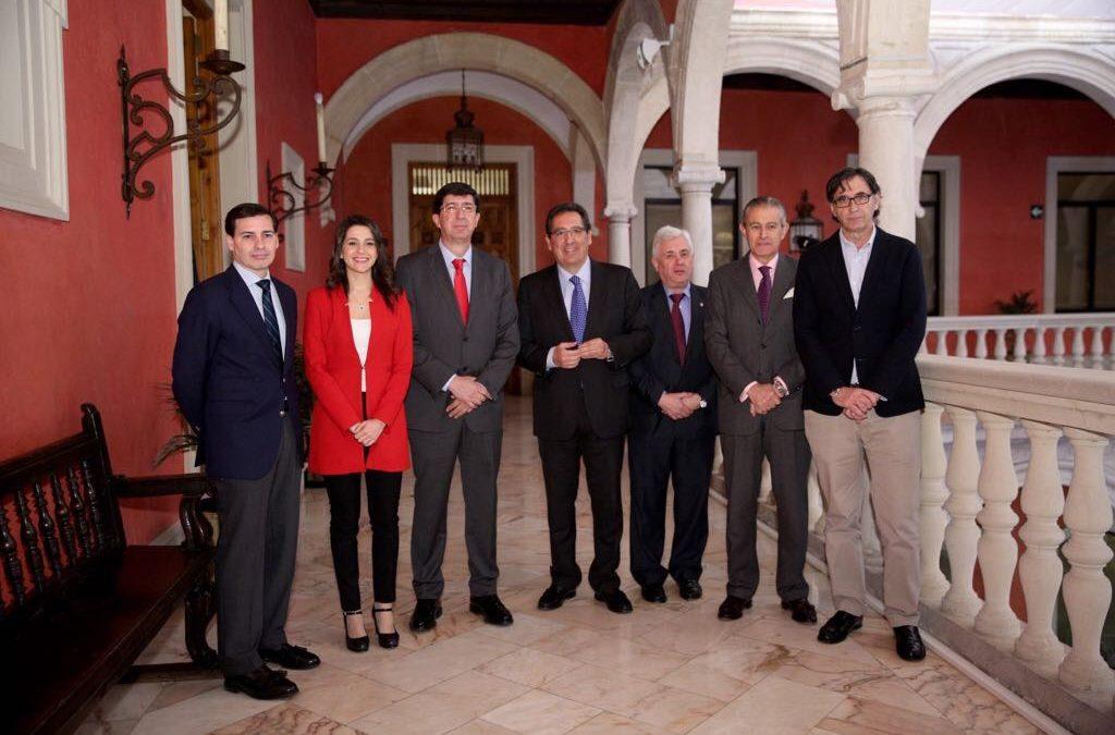 Desayuno Informativo de Europa Press con Juan Marín en la Fundación Cajasol