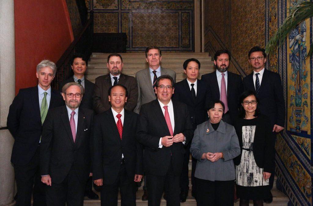 """Antonio Pulido, en el Encuentro de embajadores ASEAN: """"El Sudeste asiático es un espacio de enorme atractivo para las empresas españolas y andaluzas"""""""