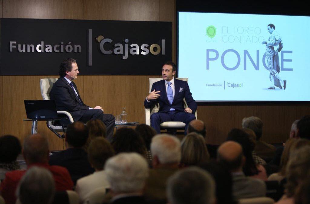 Enrique Ponce inaugura el ciclo 'El toreo contado' en la Fundación Cajasol