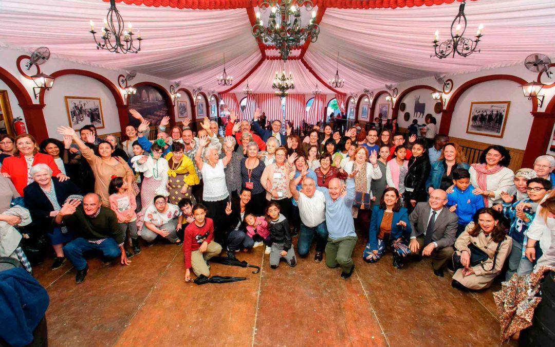 La Fundación Cajasol inaugura la Feria de Abril 2017 con el tradicional encuentro entre entidades sociales