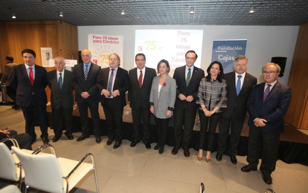 Antonio Pulido ensalza el trabajo del Foro '75 ideas para Córdoba' en la Fundación Cajasol
