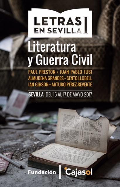 Cartel del ciclo 'Letras en Sevilla' en la Fundación Cajasol