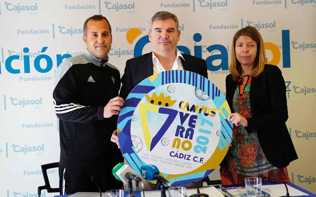 La Fundación Cajasol colabora con el Campus de Verano 2017 del Cádiz CF