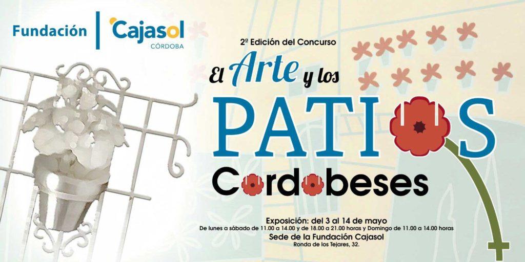 Banner de la II Exposición 'El arte y los patios cordobeses' en la Fundación Cajasol
