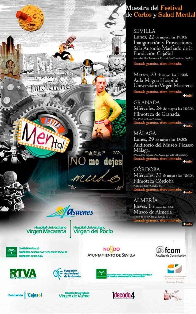Cartel del Festival de Cortos y Cine Mental 2017