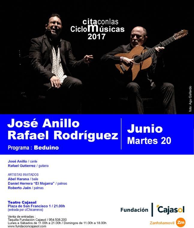 Cartel de la actuación de José Anillo y Rafael Rodríguez en el ciclo 'Cita con las Músicas'