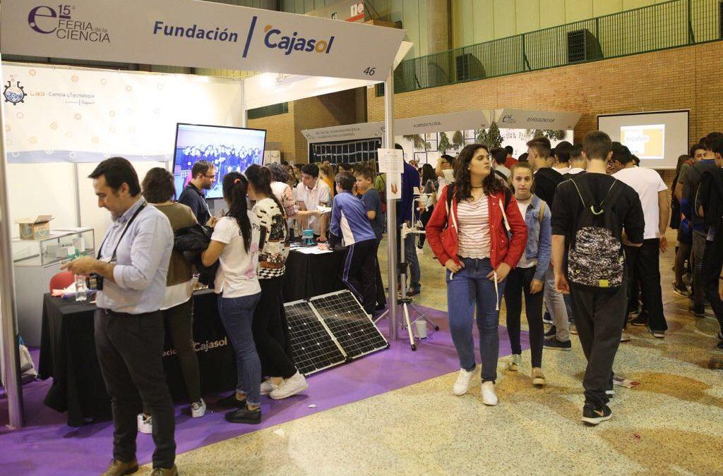 La Fundación Cajasol, en la XVII edición de la Feria de la Ciencia en Sevilla hasta el 18 de mayo