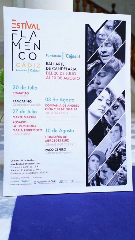 Cartel del 'Estival Flamenco 2017' en el Baluarte de la Candelaria