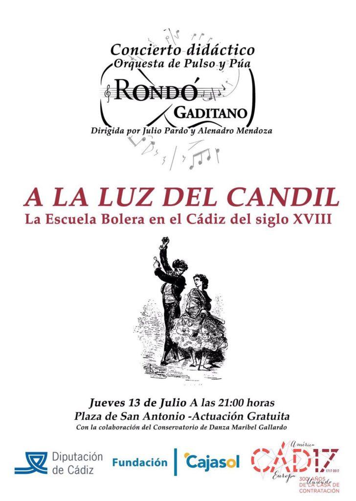 Cartel del concierto de la escuela bolera en la Plaza de San Antonio