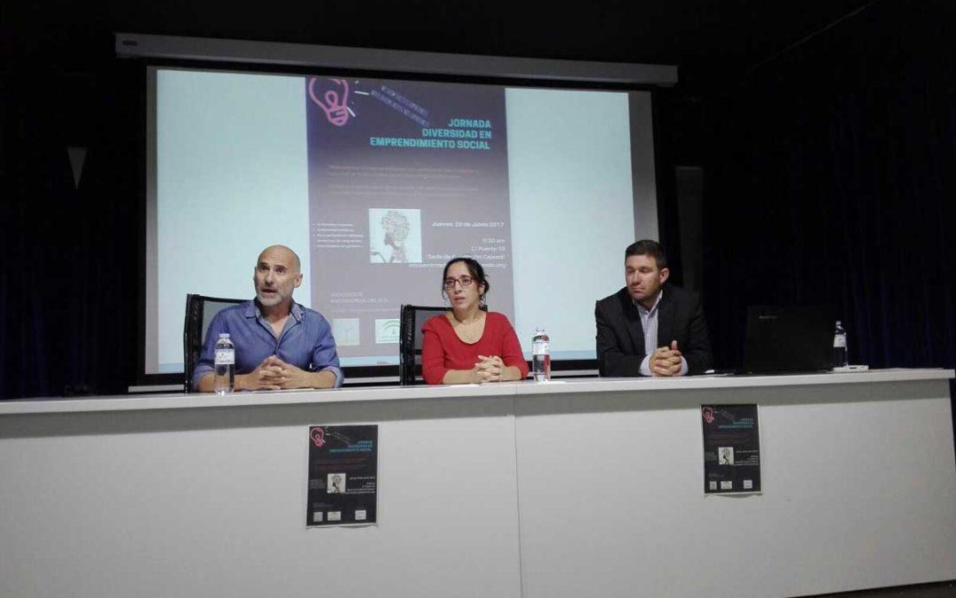 Jornada sobre Diversidad en Emprendimiento Social en la sede de la Fundación Cajasol en Huelva