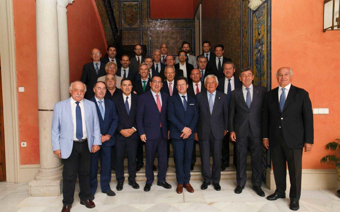 Visita del Embajador de Ecuador en España a la Fundación Cajasol