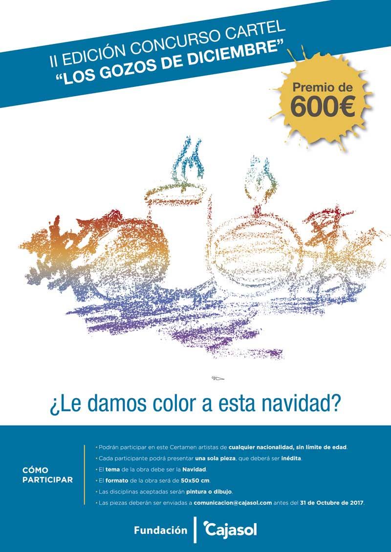 Cartel del II Concurso para ilustrar el cartel de los Gozos de Diciembre de la Fundación Cajasol