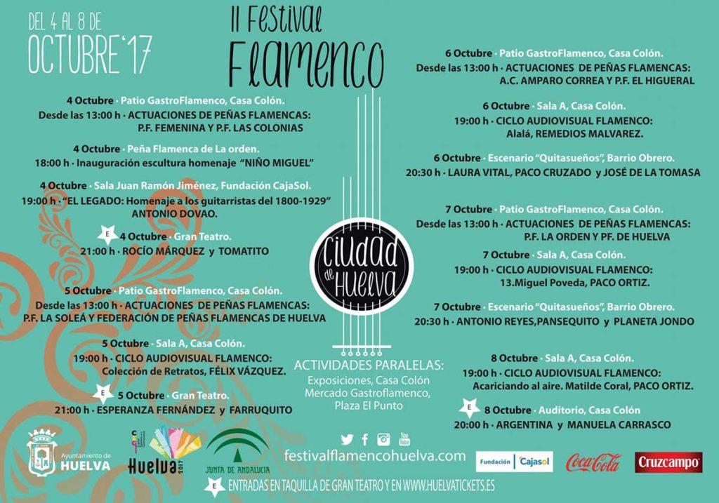 Cartel del II Festival de Flamenco de Huelva