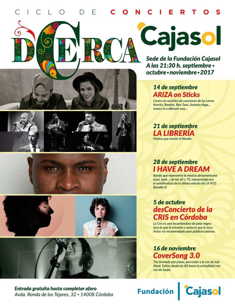 Cartel del ciclo de concierto 'DCerca' en la Fundación Cajasol