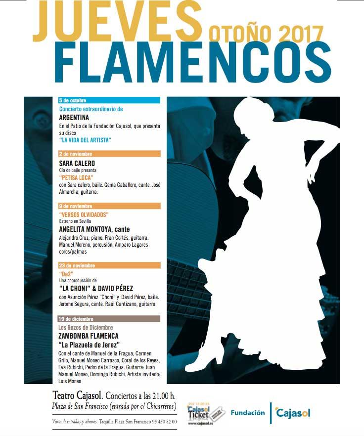 Cartel de los Jueves Flamencos Otoño 2017 en la Fundación Cajasol