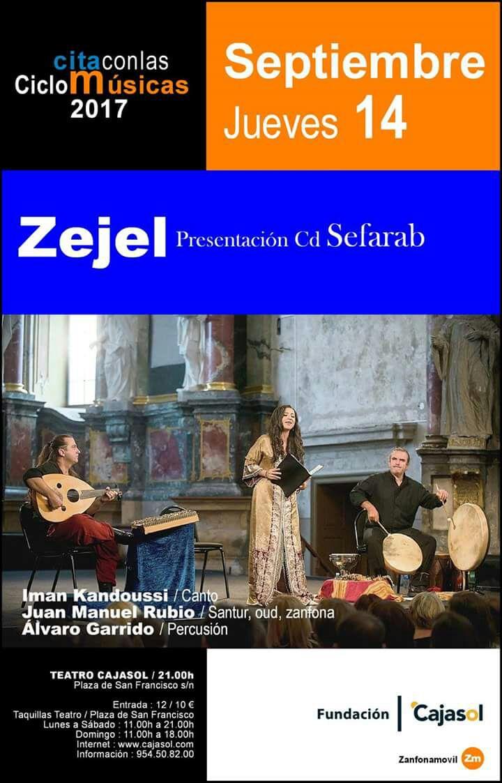 Cartel de la actuación de Zejel en el ciclo Cita con las Músicas 2017