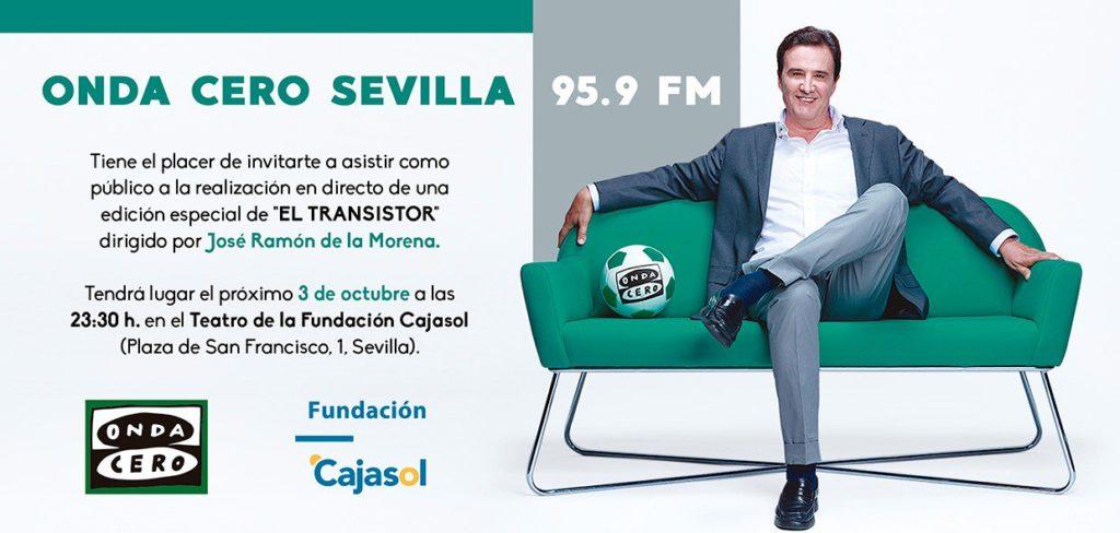 Invitación para asistir al programa 'El Transistor' en la Fundación Cajasol