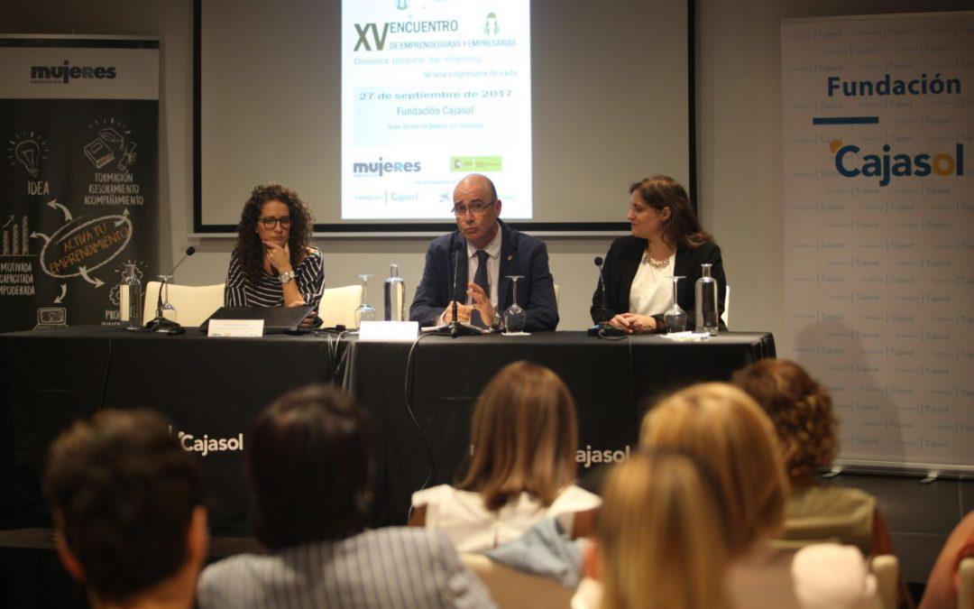 Encuentro para visibilizar negocios de emprendedoras y empresarias cordobesas en la Fundación Cajasol