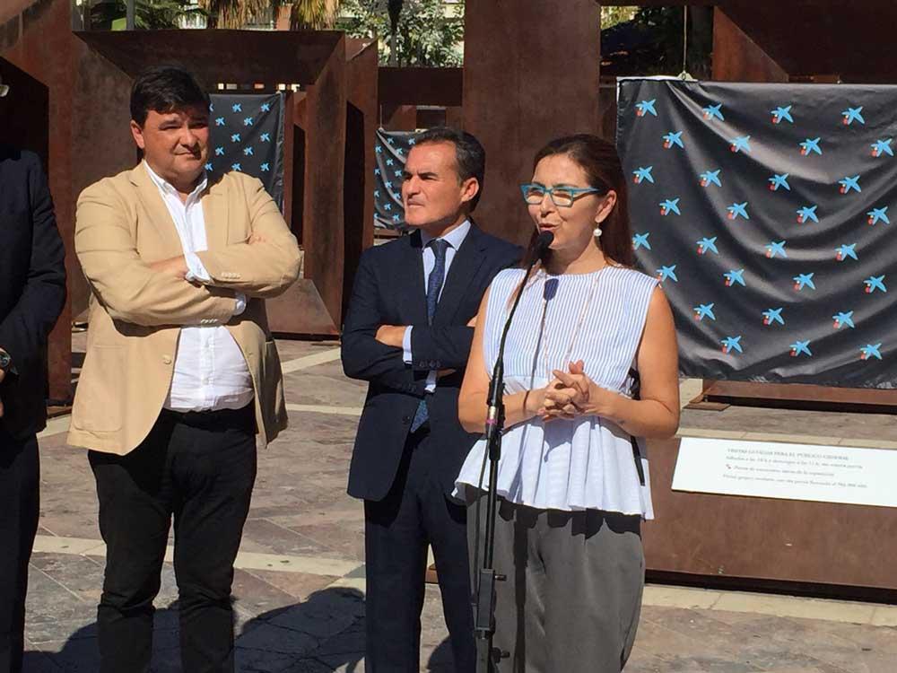 Matilde Valdivia, en la inauguración de la exposición 'Génesis' en Huelva