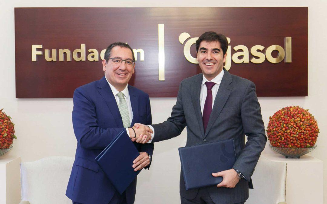 La Fundación Cajasol y el Real Betis Balompié mantienen su colaboración para hacer del fútbol una herramienta educativa