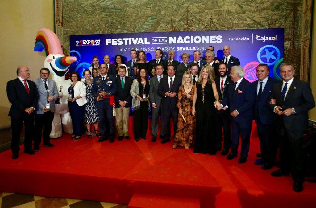 El Festival de las Naciones entrega sus Premios Solidarios 2017 en el Real Alcázar de Sevilla