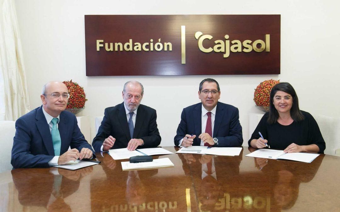 Fundación Cajasol y Diputación de Sevilla acuerdan la puesta en marcha de un proyecto en el ámbito de la simulación de empresas