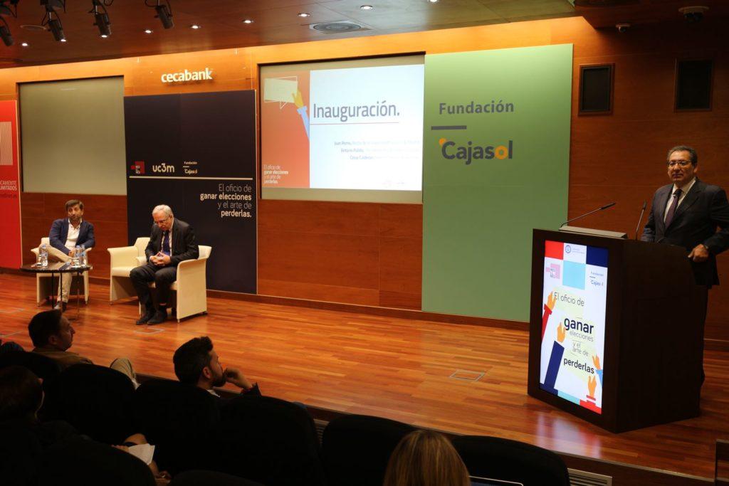 Antonio Pulido, durante su intervención en las jornadas sobre elecciones políticas