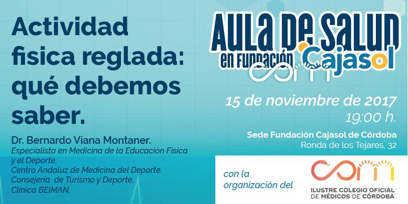 Aula de Salud de la Fundación Cajasol en Córdoba sobre 'Actividad física reglada'