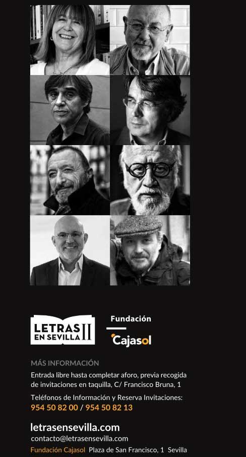 Cartel con información sobre ciclo Letras en Sevilla dedicado a Chaves Nogales