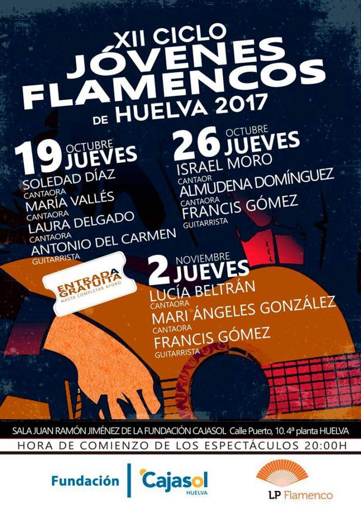 Cartel del XII ciclo jóvenes flamencos de la Fundación Cajasol en Huelva
