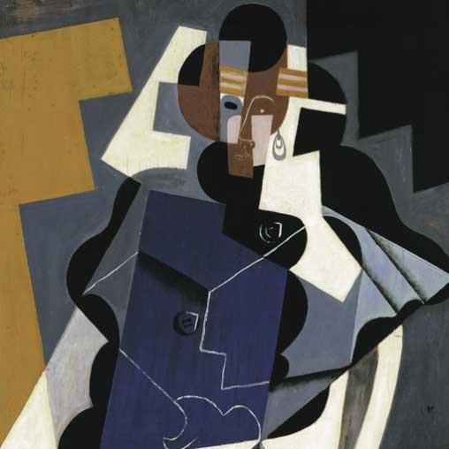 Una de la imágenes que se pueden observar en la exposición Juan Gris, Blanchard y los cubismos' en el Museo Thyssen de Málaga