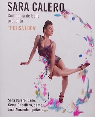 Carte de Sara Calero en los Jueves Flamencos