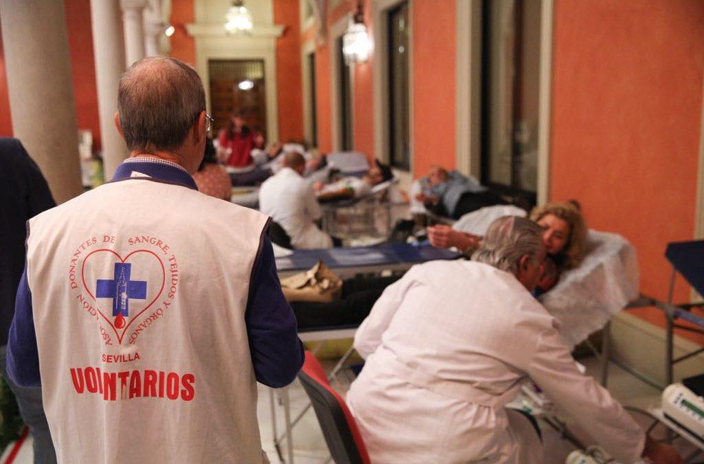 Gran respuesta ciudadana en el IX Maratón de Donación de Sangre en la sede de la Fundación Cajasol
