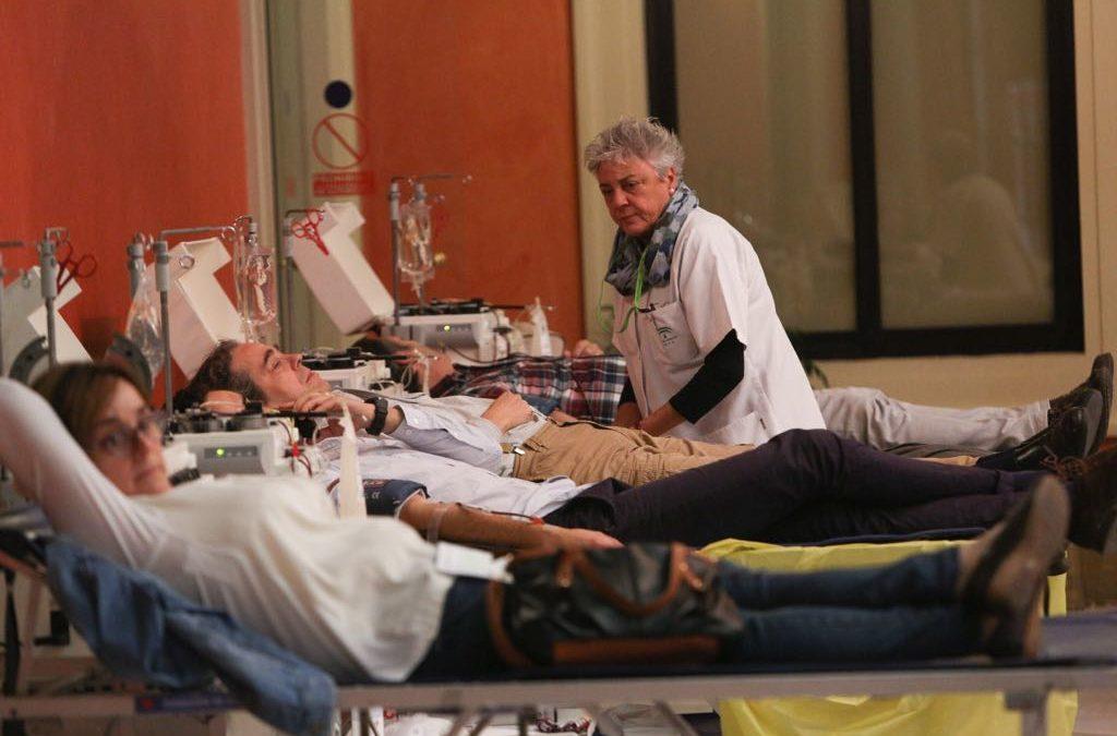 Maratón de donación en Fundación Cajasol para celebrar el Día Mundial del Donante de sangre